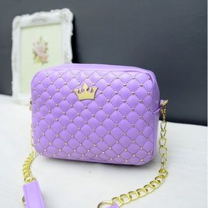 Handbags - Women's Small Fashion Shoulder Bag with Crown